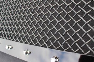 Stainless steel studs in multiple finishes; can also be removed completely on most grilles