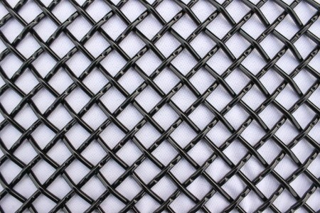 Stainless steel grille mesh available in flat black, glossy black, or mirror polish