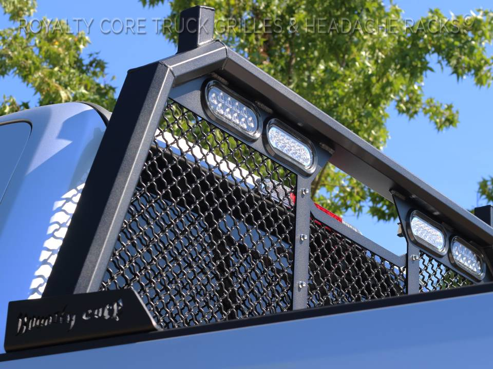 ford superduty       rc standard height headache rack  integrated taillights