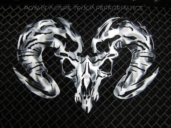 ram skull airbrushed. Black Bedroom Furniture Sets. Home Design Ideas