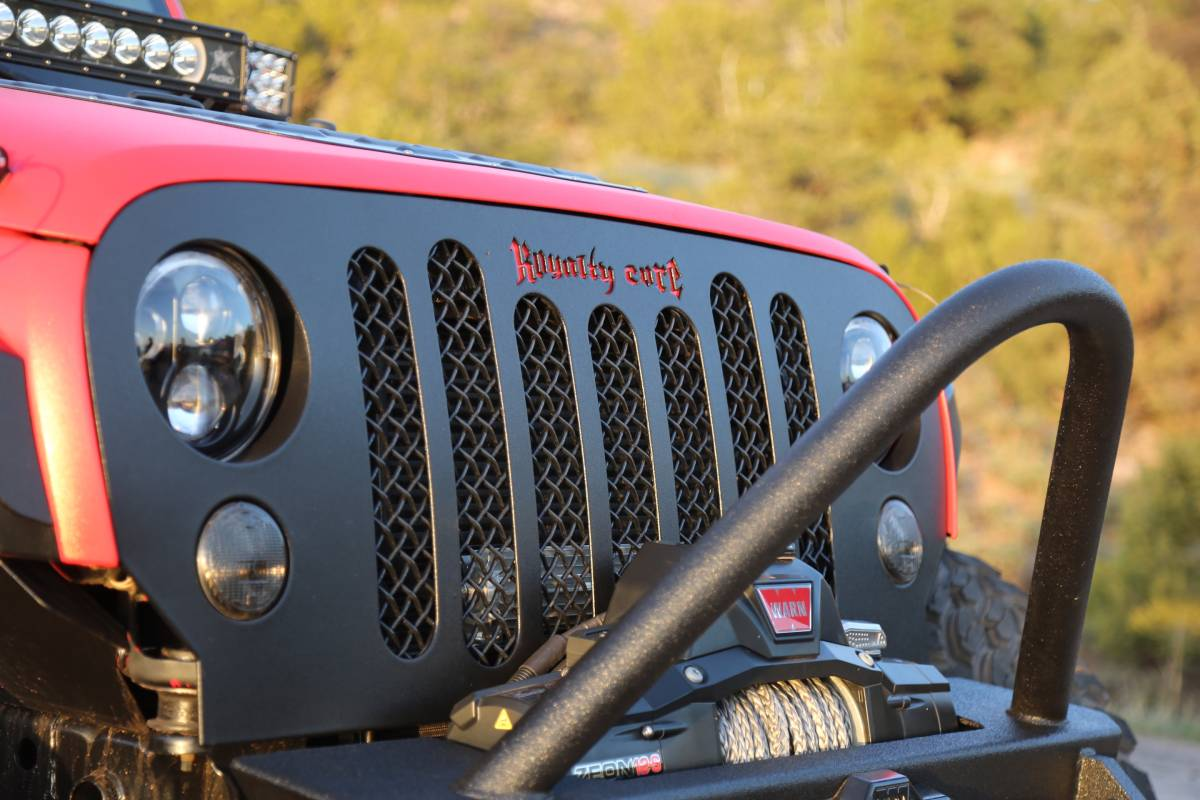Jeep Wrangler 2007 2017 Rcjk Grille Replacement Satin Black Outline Royalty Core