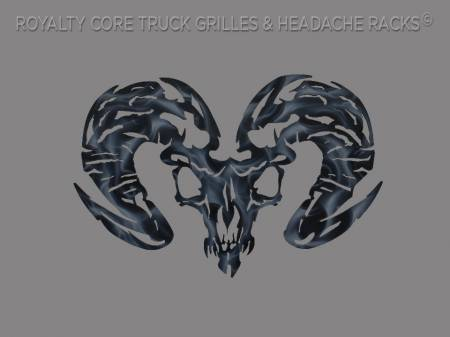 Royalty Core - Ram Skull Airbrushed