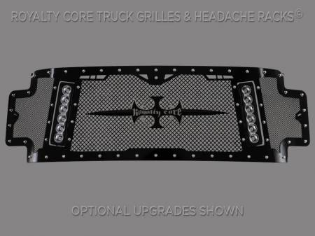 Royalty Core - Ford Super Duty 2017-2018 RCX Explosive Dual LED Full Grille Replacement