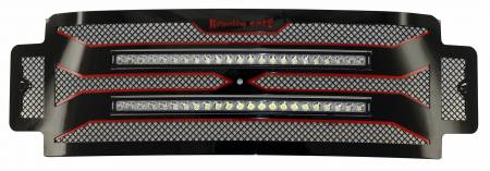 "Royalty Core - Ford Super Duty 2017 - 2019 F-250/F-350/F-450 RC4 DOUBLEX Layered with TWO 30"" Curved LED Grille"