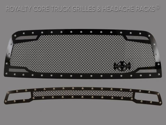 Royalty Core - Dodge Ram 2500/3500/ 2013-2019 RC2 Main Grille Twin Mesh & Bumper Grille Package