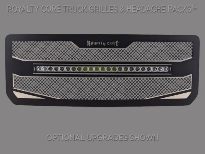 """Royalty Core - GMC 2500/3500 HD 2015-2019 RC4X Layered 30"""" Curved LED Grille"""