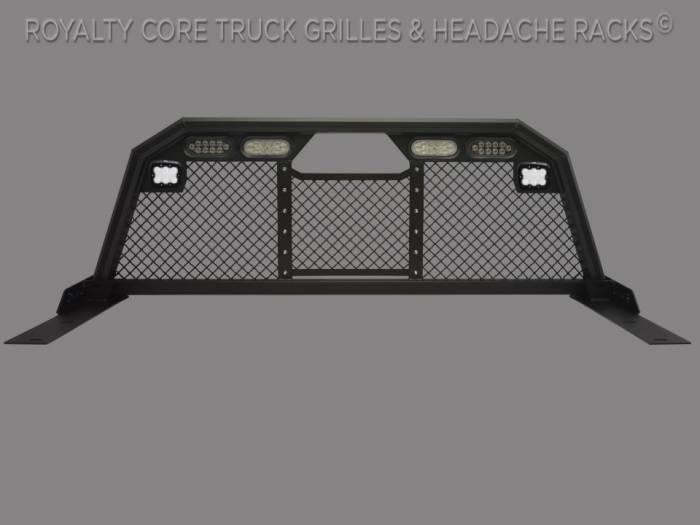 Royalty Core - Dodge Ram 1500 2009-2018 RC88 Ultra Billet Headache Rack w/ Integrated Taillights & Dura PODs