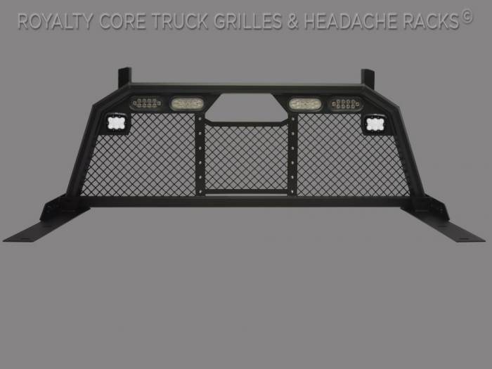 Royalty Core - Ford Superduty F-250 F-350 1999-2010 RC88 Headache Rack w/ Integrated Taillights & Dura PODs
