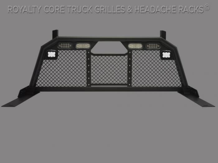 Meyer's - Dodge Ram 2500/3500/4500 2010-2019 RC88 Billet Headache Rack w/ Integrated Taillights & Dura PODs-Standard Height