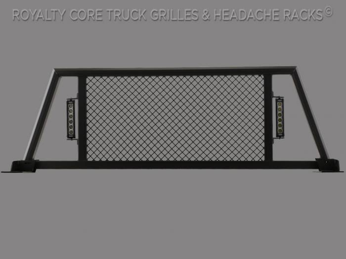 Royalty Core - Dodge Ram 1500 2002-2008 RC88X Ultra Billet Headache Rack with LED Light Bars