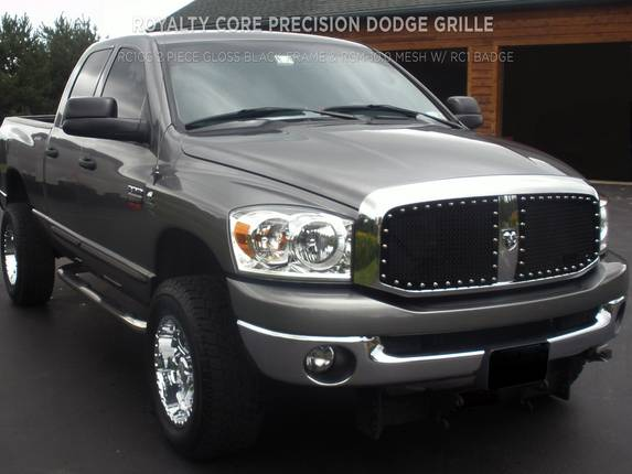 Royalty Core - Dodge Ram 2500/3500 2003-2005 RC1 Main Grille Gloss Black w/ 10.0 Mesh 2 Piece