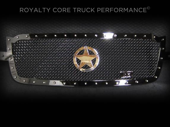 Royalty Core - Chevrolet 2500/3500 2005-2007 RC1 Full Grille Replacement with War Star Emblem