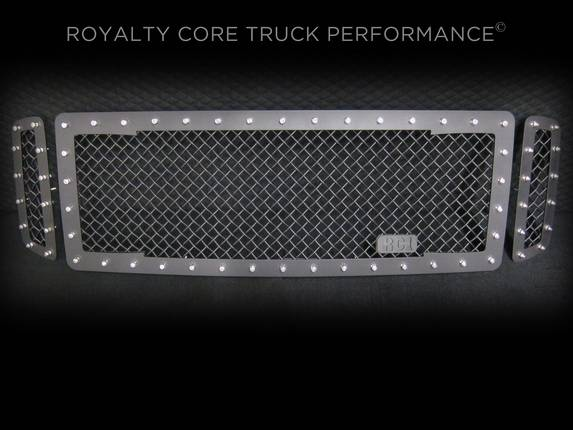 Royalty Core - Ford Super Duty 1999-2004 RC1 Main Grille 3 Piece Satin Black