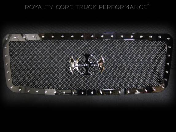 Royalty Core - Chevy 2500/3500 2011-2013 RC1 Full Grille Replacement Gloss Black w/ Center Logo