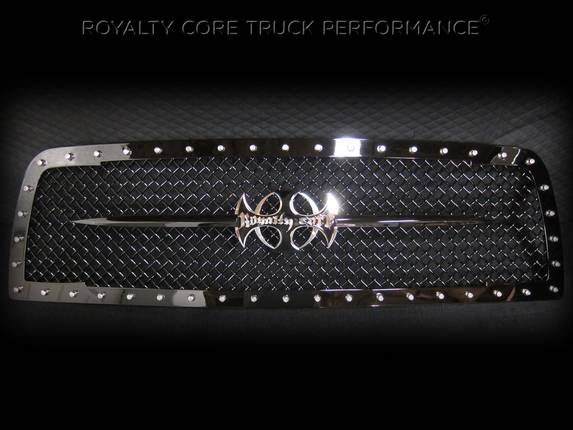 Royalty Core - Chevrolet 1500 2007-2013 RC1 Full Grille Replacement with Sword Assembly
