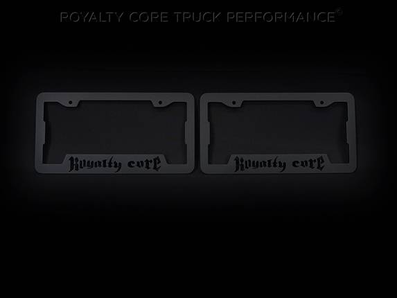 Royalty Core - Royalty Core License Plate Cover Set Satin Black