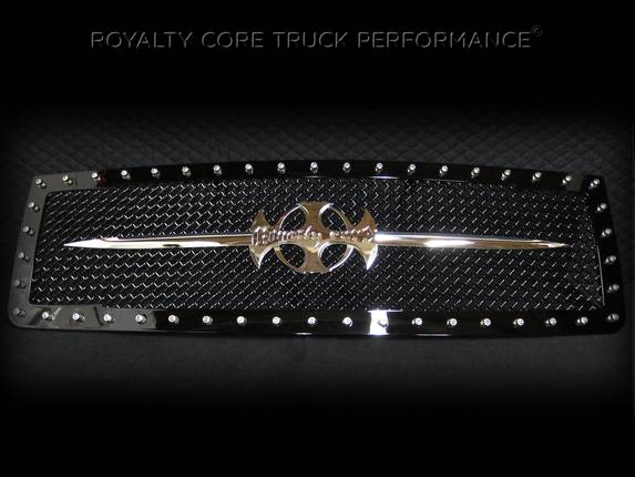 Royalty Core - GMC Sierra 1500 & Denali 2007-2013 RC1 Main Grille with Chrome Sword Assembly