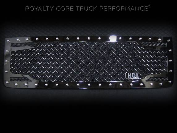 Royalty Core - GMC Sierra 2500/3500 HD 2007-2010 RC2 Main Grille with 5.0 Super Mesh