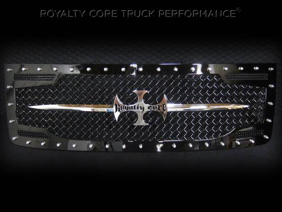 Royalty Core - GMC Sierra 2500/3500 2007-2010 RC2 Main Grille with Chrome Sword Assembly