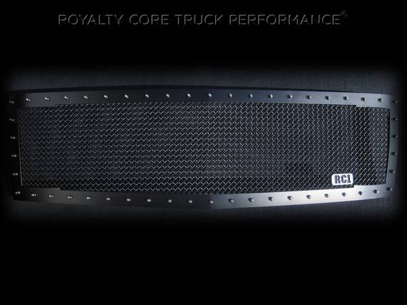 Royalty Core - Chevrolet 1500 2007-2013 RC1 Satin Black Grille Replacement Satin 10.0 Mesh