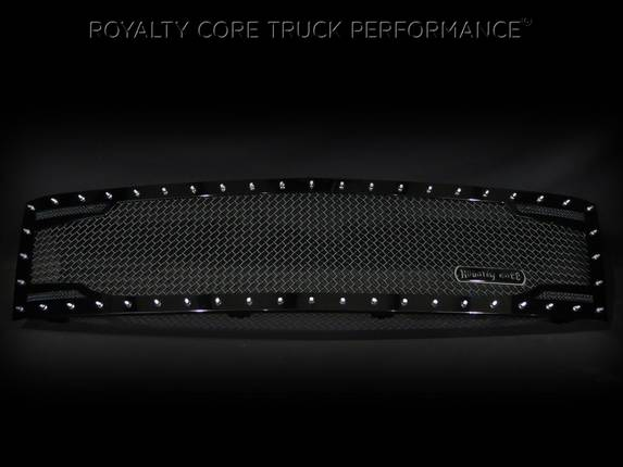 Royalty Core - Chevrolet 1500 2007-2013 Full Grille Replacement RC2 Twin Mesh Grille