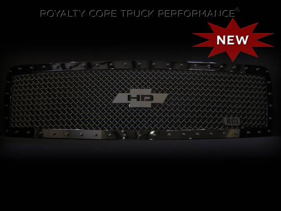 Royalty Core - Chevy 2500/3500 2007-2010 RC1 Gloss Black Grille Replacement with Chevy HD Logo