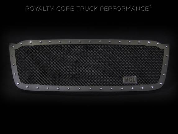 Royalty Core - Chevrolet 2500/3500 2003-2004 RC1 Full Grille Replacement Satin Black