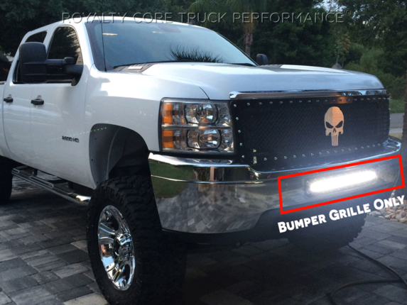 Chevy 25003500 2011 2014 bumper grille with 24 led light bar 0 aloadofball Choice Image