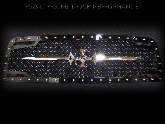Royalty Core - Dodge Ram 1500 2009-2012 RC2 Main Grille Twin Mesh with Chrome Swords