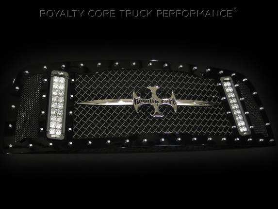 Royalty Core - Dodge Ram 2500/3500 2003-2005 RCX Main Grille w/ Two Double Row LED Light Bars