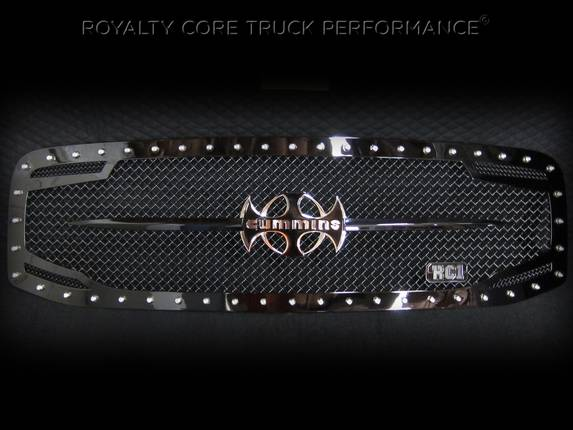 Royalty Core - Dodge Ram 2500/3500 2006-2009 RC2 Main Grille Twin Mesh & Cummins Sword Assembly