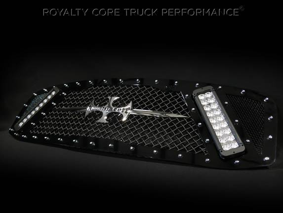 Royalty Core - Dodge Ram 2500/3500/4500 2006-2009 RCX Explosive Dual LED Grille