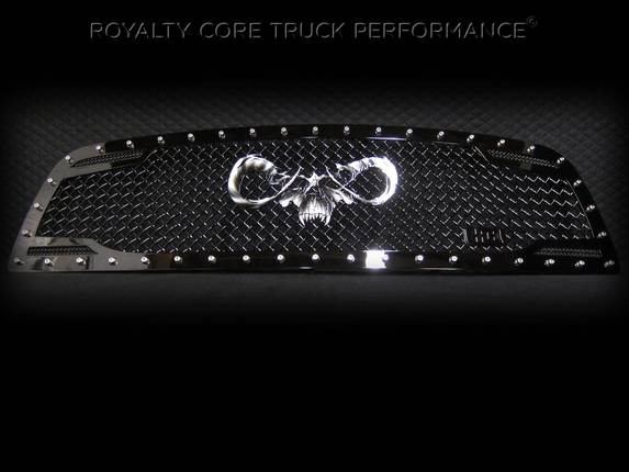 Royalty Core - Dodge Ram 2500/3500 2010-2012 RC2 Main Grille Twin Mesh with Goat Skull Logo