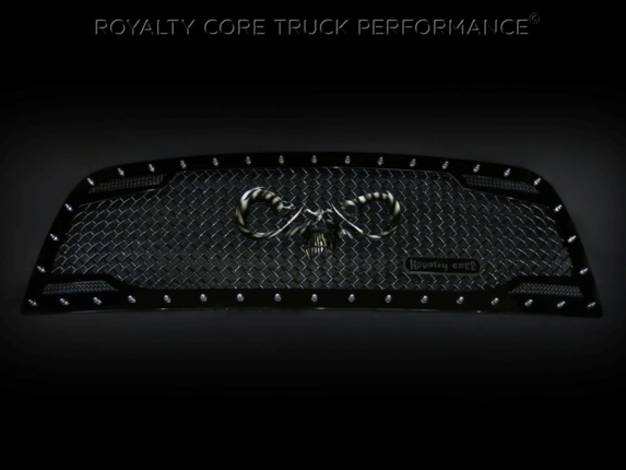 Royalty Core - Dodge Ram 2500/3500 2013-2017 RC2 Main Grille Twin Mesh with Goat Skull Logo