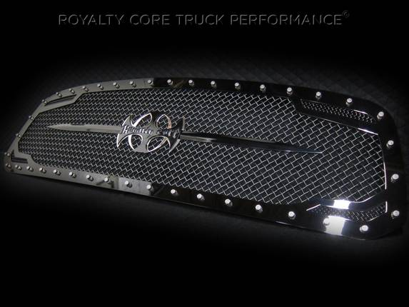 Royalty Core - Dodge Ram 2500/3500 2013-2018 RC2 Main Grille Twin Mesh Gloss Black w/ Swords