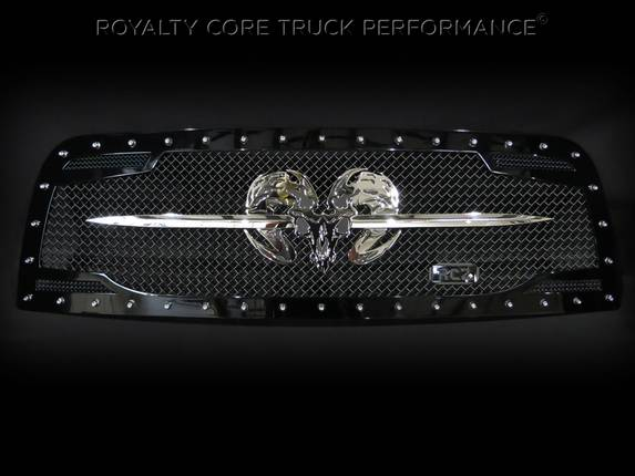 Royalty Core - Dodge Ram 2500/3500 2013-2017 RC2 Grille Twin Mesh w/ Speared Ram Sword Assembly