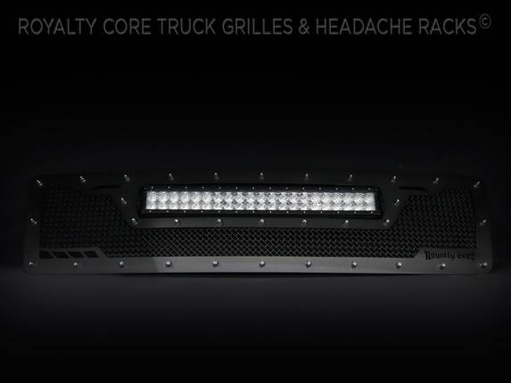 Royalty Core - Ford Super Duty 1992-1998 RCRX LED Race Line Grille-Top Mount LED