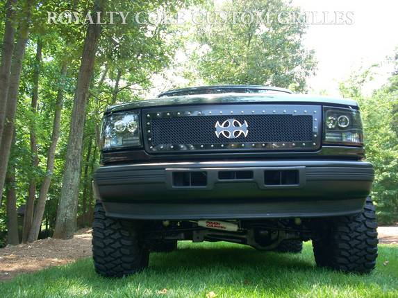 Royalty Core - Ford F-250/F-350 1992-1998 RC1 Main Grille Gloss Black w/ Satin Black 10.0 Mesh
