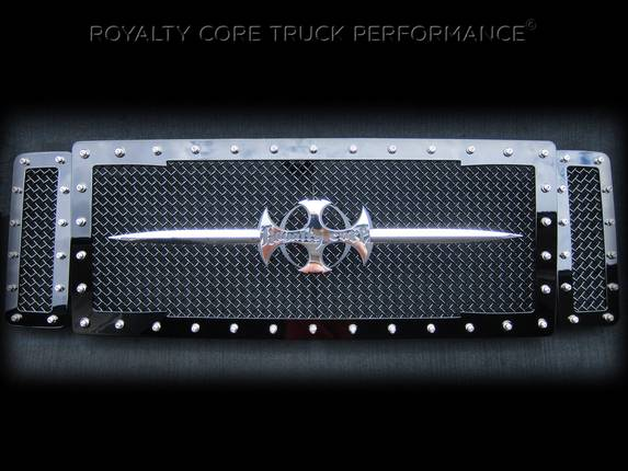 Royalty Core - Ford Super Duty 2005-2007 RC1 Main Grille 3 Piece with Chrome Sword Assembly