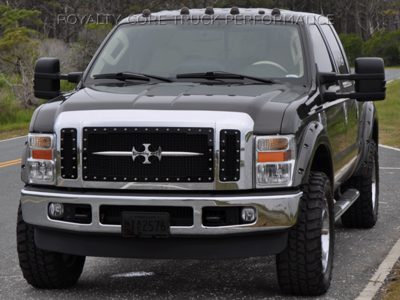 Royalty Core - Ford SuperDuty 2008-2010 RC1 Main Grille 3 Piece with Chrome Sword Assembly