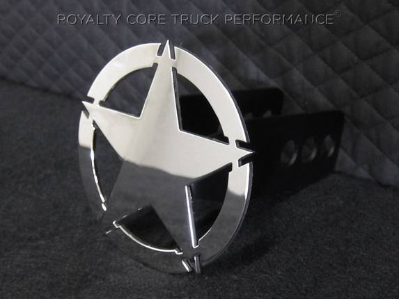 Royalty Core - War Star Chrome Hitch Cover