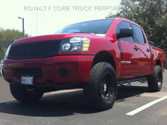 Royalty Core - Nissan Titan & Armada 2004-2012 RC1 Full Grille Replacement Gloss Black No Studs