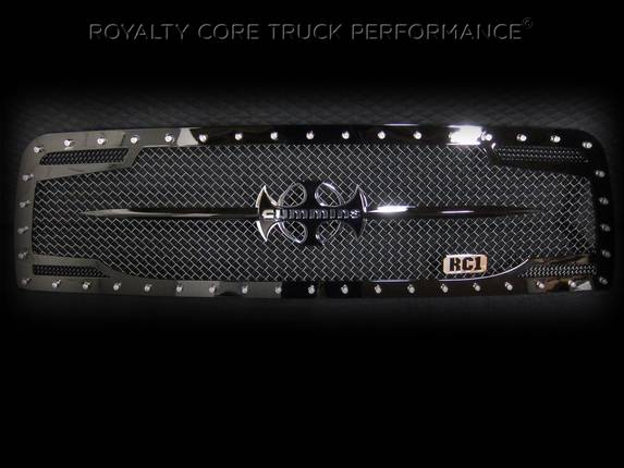 Royalty Core - Dodge Ram 2500/3500 2003-2005 RC2 Main Grille Twin Mesh & Cummins Sword Assembly