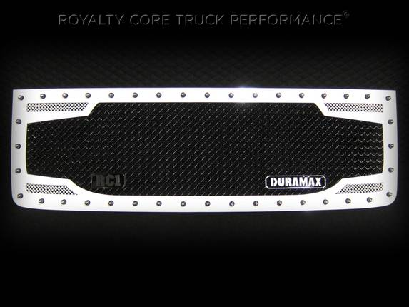 Royalty Core - GMC Sierra 2500/3500 HD 2007-2010 RC2 Main Grille Factory Color Match with Badge