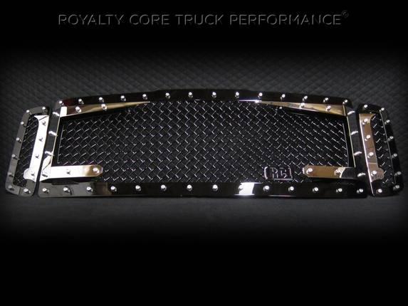 Royalty Core - Ford Super Duty 1999-2004 RC3DX Black & Chrome Main Grille 3 Piece No Sword