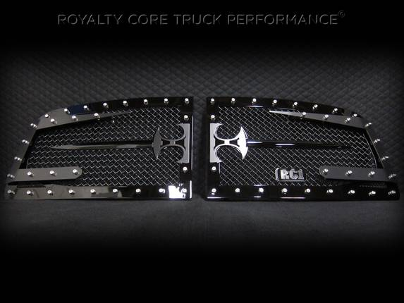 Royalty Core - Dodge Ram 2500/3500 2003-2005 RC3DX Innovative Grille w/ Split Sword Assembly