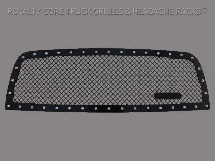 Royalty Core - Dodge Ram 2500/3500 2013-2018 RC1 Main Grille Gloss Black 5.0 Mesh w/ RC1 Badge