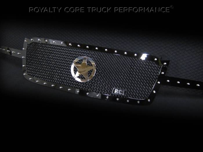 Royalty Core - Chevrolet 2500/3500 2003-2004 RC1 Full Grille Replacement with War Star Emblem