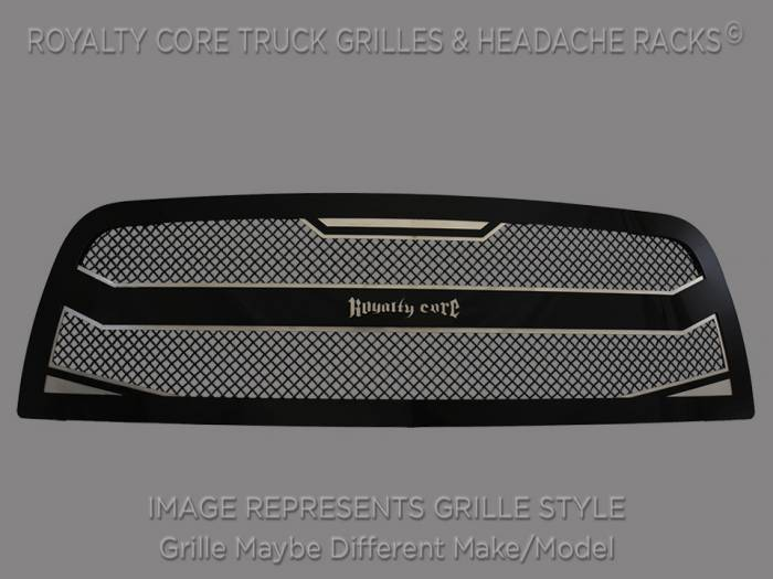 Royalty Core - Royalty Core Chevrolet Silverado Full Grille Replacement 2500/3500 HD 2003-2004 RC4 Layered Grille