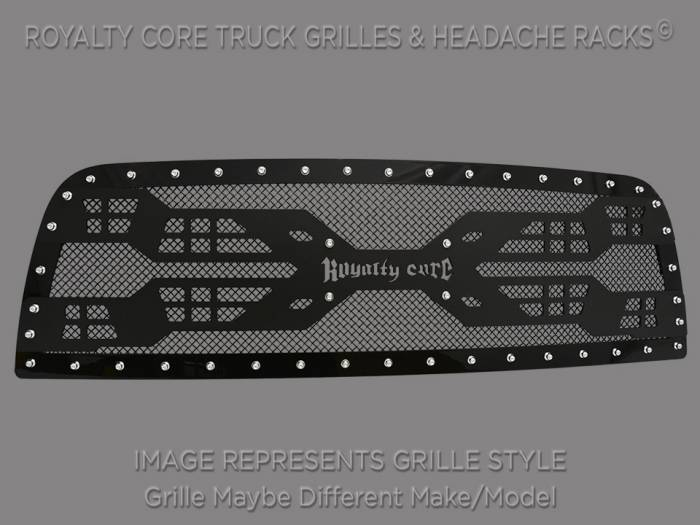 Royalty Core - Royalty Core Nissan Titan 2005-2007 Full Grille Replacement RC5 Quadrant Grille 100% Stainless Steel Truck Grille